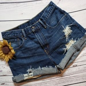 Levi's 569 Cutoff Jean Shorts